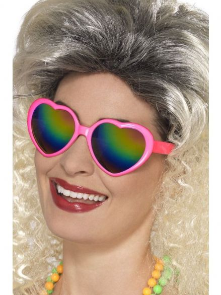 1970's  Heart Glasses with Rainbow Lenses